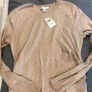 NWT Long maternity tan sweater